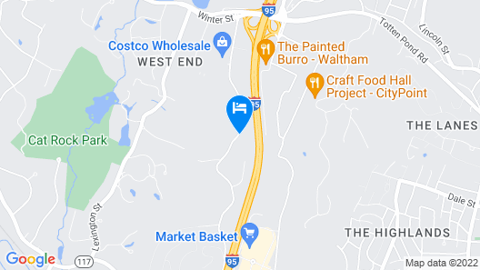 Fairfield Inn & Suites by Marriott Boston Waltham Map