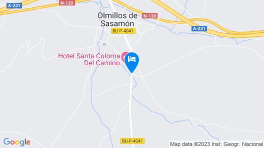 Hotel Santa Coloma del Camino Map