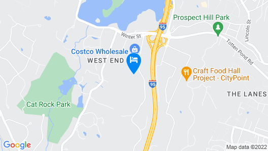 Hampton Inn & Suites Boston/Waltham Map