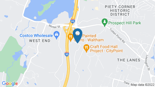 Extended Stay America - Boston - Waltham - 32 4th Ave Map