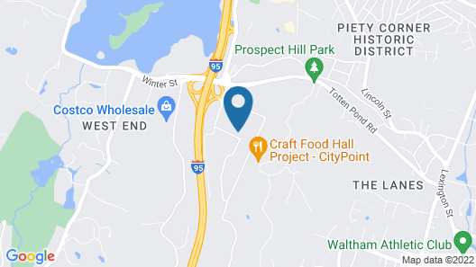 Extended Stay America Suites Boston Waltham 52 4th Ave Map