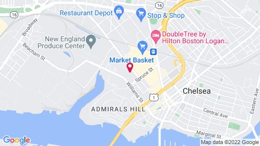 Hampton Inn Boston Logan Airport Chelsea Map