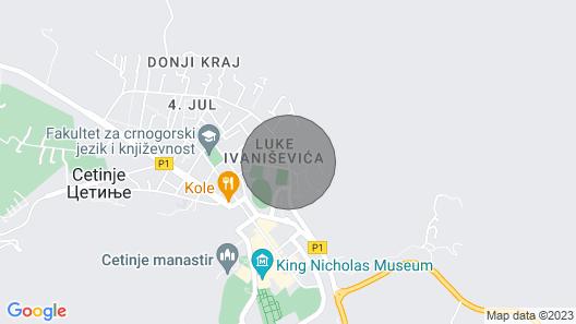 Stan na Cetinju za relaksaciju Map