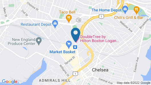 Doubletree By Hilton Boston Logan Airport Chelsea Map