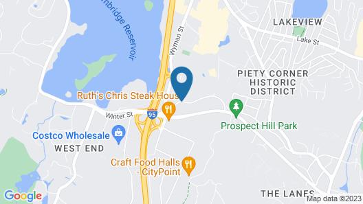 Holiday Inn Express Boston - Waltham Map