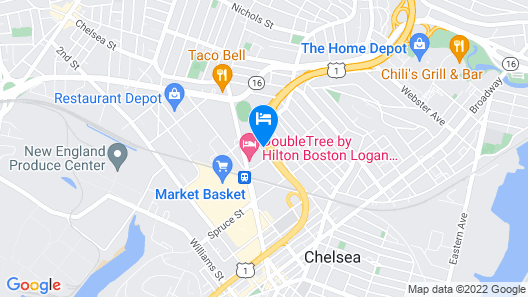 Homewood Suites by Hilton Boston Logan Airport Chelsea Map