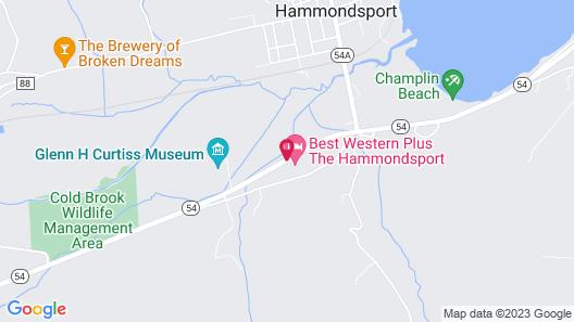 Best Western Plus The Hammondsport Hotel Map