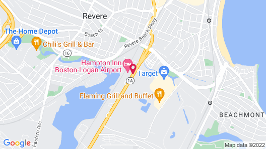 Hampton Inn Boston - Logan Airport Map