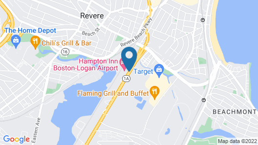 Hampton Inn Boston - Logan Airport Map