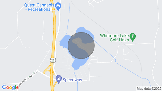 Lakefront House Close to Ann Arbor! Map
