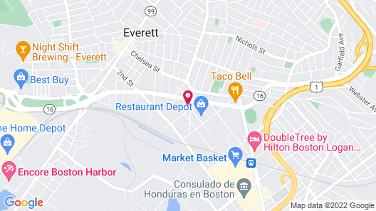 enVision Hotel Boston-Everett, Ascend Hotel Collection Map