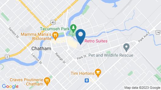 Retro Suites Hotel Map