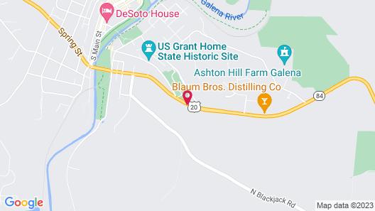 Best Western Galena Inn & Suites Map