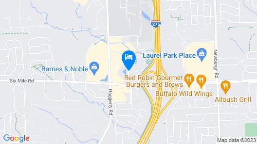Fairfield Inn & Suites by Marriott Detroit Livonia Map