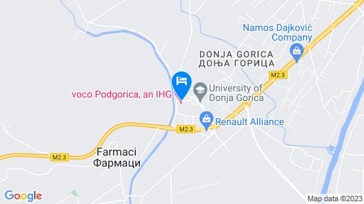 voco Podgorica, an IHG Hotel Map