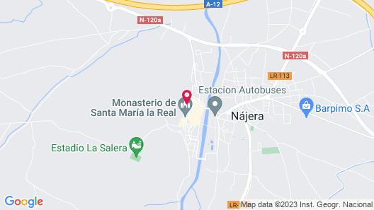 Hostal Ciudad de Nájera Map