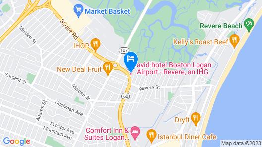 avid hotel Boston Logan Airport - Revere Map