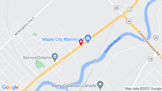 Chatham Motel Map