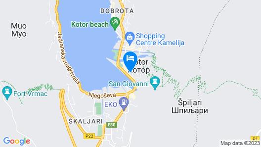 Astoria Hotel Kotor Map