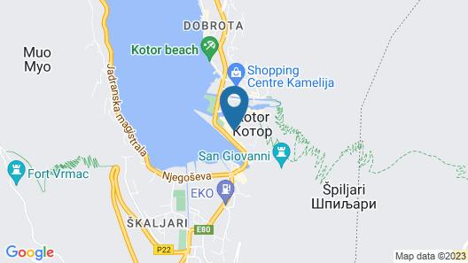 Hotel Vardar Kotor Map