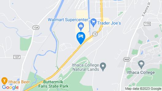 Hampton Inn Ithaca Map
