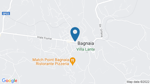 Hotel Bagnaia Map
