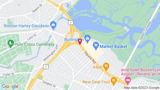 Four Points by Sheraton Boston Logan Airport Revere Map