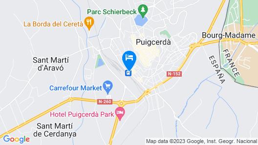 Hotel Parada Puigcerdà Map