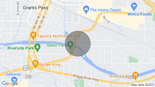 Home With Gated Driveway Near River & Downtown Map