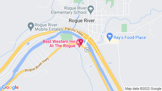 Best Western Inn At The Rogue Map