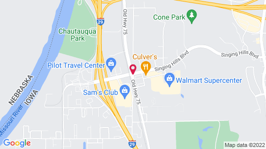 Super 8 by Wyndham Sioux City South Map
