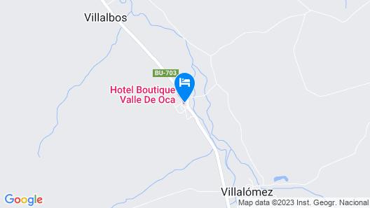 Hotel Boutique Valle de Oca Map