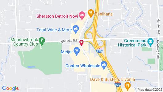 Hampton Inn Detroit/Northville Map