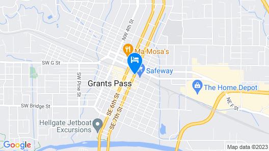 Knight's Inn Motel Map