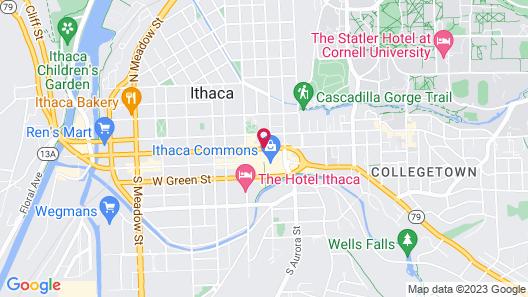 Hilton Garden Inn Ithaca Map