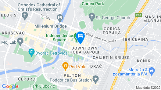 Hotel Kerber Podgorica Map