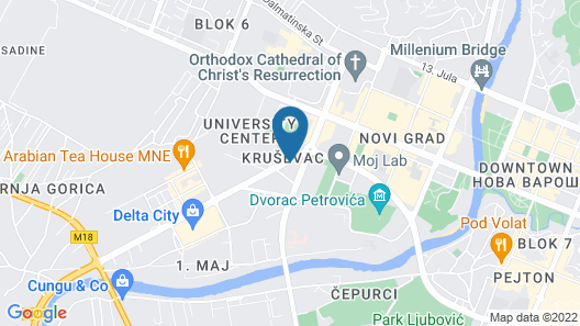 CUE Podgorica Map