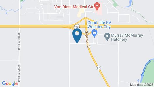 AmericInn by Wyndham Webster City Map