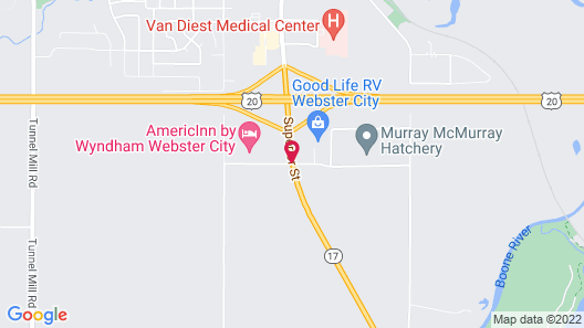 Super 8 by Wyndham Webster City IA Map