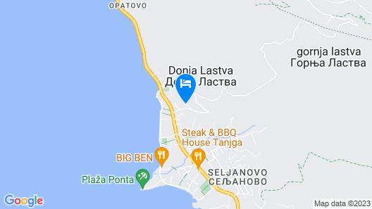 Apartments Villa Lastva Map