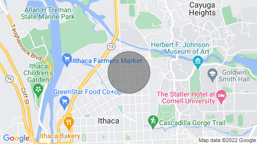 Cozy Home IN THE Heart OF Ithaca! Map