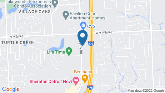 WoodSpring Suites Detroit Farmington Hills Map