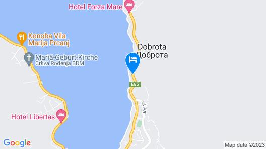 Huma Kotor Bay Hotel and Villas Map
