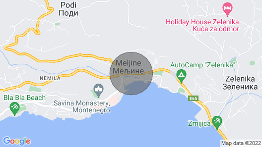 Apartment for Families With sea View in Herceg Novi Map
