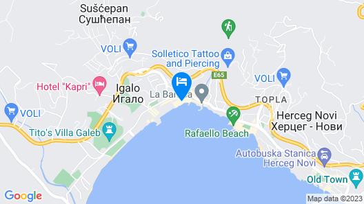 Apartmani Centar Igalo Map