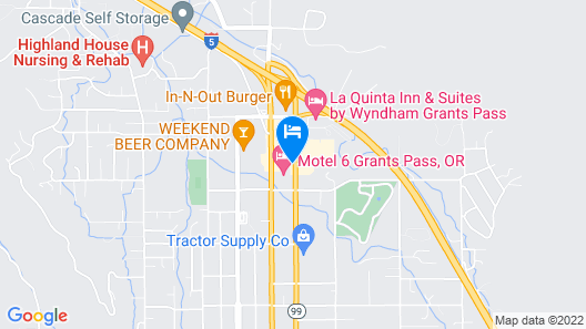 Motel 6 Grants Pass, OR Map