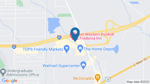 Best Western Dunkirk & Fredonia Inn Map