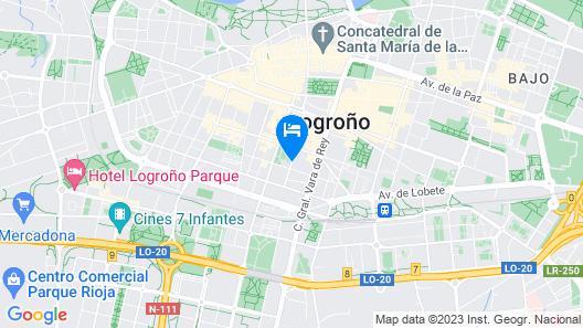 Hotel Ciudad de Logroño Map