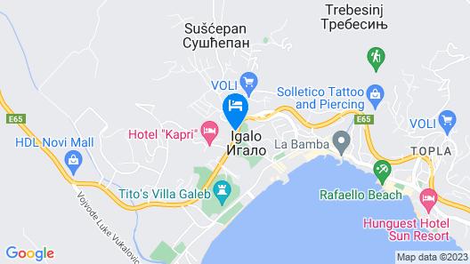 Apart Hotel MS Katunjanin Map