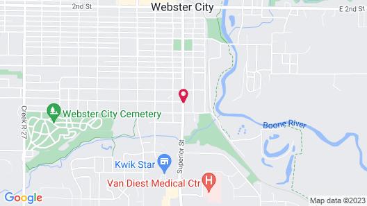 Americas Best Value Inn Webster City Map